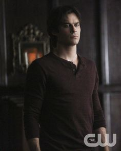 """The Vampire Diaries -- """"I'm Thinking of You All The While"""" -- Image Number: VD622b_0035.jpg -- Pictured: Ian Somerhalder as Damon -- Photo: Annette Brown/The CW -- © 2015 The CW Network, LLC. All rights reserved."""