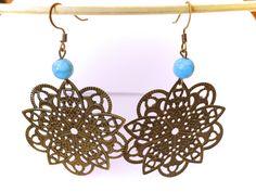 boucles d'oreilles esprit bohème ! prix : 7.00 euros.  http://www.alittlemarket.com/boutique/clouds_are_yellow-1267595.html
