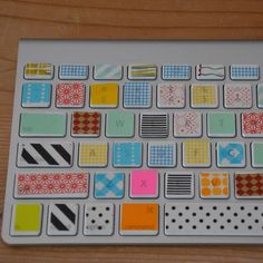 DIY keyboard with masking tape! Neat but I would be scared to do this to my computer!