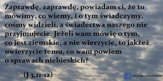 Słowo, które wiedzie: J 3,11-12