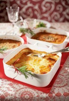 Imelletty perunalaatikko soseesta | K-ruoka #joulu Finnish Recipes, Christmas Kitchen, Potato Casserole, Vegetable Recipes, Side Dishes, Curry, Food And Drink, Xmas, Baking