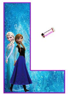 Frozen: Free Elsa and Ana Alphabet. Frozen: Bello Alfabeto Gratis de Elsa y Ana. Sofia The First Birthday Party, Frozen Themed Birthday Party, Disney Frozen Birthday, Birthday Party Themes, Girl Birthday, Frozen Tea Party, Alphabet Birthday, Olaf Frozen, Frozen Free