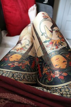 Tattoo. Legs. Colorful. Beauty. Special. Gorgeous. Solid. Clean. Ink. Chines. Human. Faces. Real. Nature. Pattern. Symbols. Inspiration.