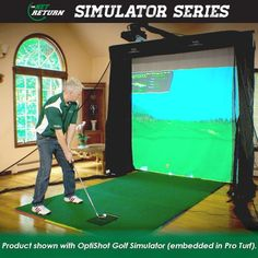 The Net Return introduces its new golf Simulator Series. Pushbutton Quick Color Connect Setup, Compact Design, Floating Textilene Screen and can be used with any Golf Simulator Software. Golf 6, New Golf, Play Golf, Cheap Golf Clubs, Golf Cart Parts, Golf Gps Watch, Golf Apps, Golf Pride Grips, Golf Putting Tips