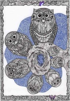Guitar by ExScout on DeviantArt Seven Owls<br>