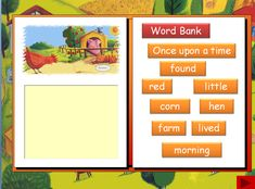 A selection of printable and interactive resources to support work on the story of the Little Red Hen. resources in Pdf and PowerPoint formats Little Red Hen, Little Pigs, School Resources, Teaching Resources, Traditional Tales, Tall Tales, Unit Plan, Reading Workshop, School Themes