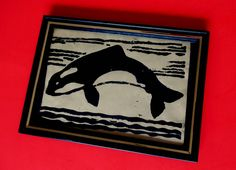 KILLER WHALE Wood Block PRINT Vintage Framed Sea Ocean Mammal Marine Jumping Old Orcinus Orca Pacific Northwest Antarctic Asesina Ballenas by MADONNASCOLLECTIBLES on Etsy