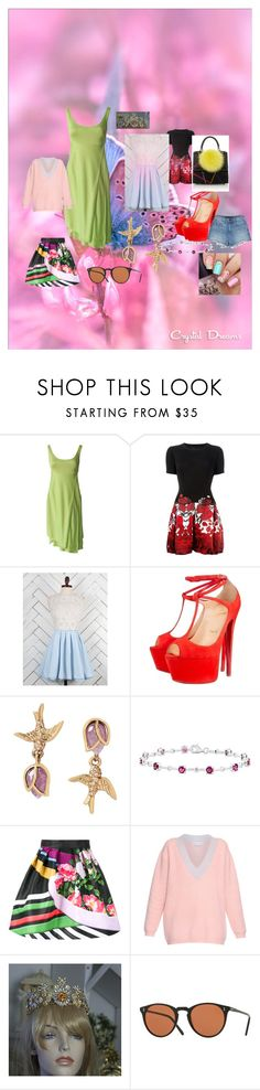 """""""Spring 2016"""" by emmaw345 on Polyvore featuring Versace, Philipp Plein, Altar'd State, Christian Louboutin, Les Petits Joueurs, Betsey Johnson, Mary Katrantzou, Jonathan Saunders and Alexander Wang"""