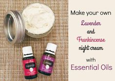 Face Cream essential oils - 4 simple ingredients. Coconut oil, shea butter and essential oils. I feel like I've tried every moisturizer on the planet. And every one I found had a ton of ingredients that I couldn't pronounce. DIY | Make and Take | Night Cream #NightCreamForOilySkin #FaceCreamForWrinkles Face Cream For Wrinkles, Cream For Oily Skin, Skin Cream, Face Creams, Wrinkle Creams, Eye Cream, Young Living, Shea Butter Face, Best Night Cream