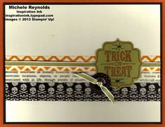 Tags 4 You Set from Stampin' Up! with Witches' Brew Washi Tape for a Halloween card.