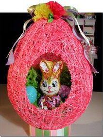 Haz un huevo de pascua con un conejito adentro usando un globo ~ lodijoella