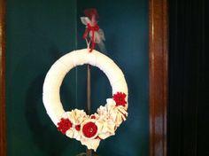 """""""Baby, It's Cold Outside"""" wreath created by Lynn Bartenhagen"""