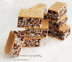 napolitana cu ciocolata si orez 5 Wafer Cake Recipe, Cake Recipes, Cereal, Candy, Baking, Breakfast, Desserts, Food, Dessert Ideas