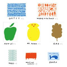 Set of 16 art papers by Mogu Takahashi