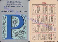1974 - 1974_0641 - Régi magyar kártyanaptárak