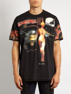GIVENCHY  Army skull-print distressed cotton T-shirt €830