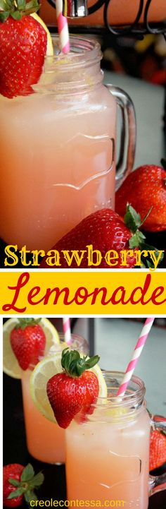 Strawberry Lemonade-Creole Contessa