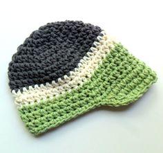Baby Boy Baby Boy Crochet Hat Visor Hat Toddler Boys by Karenisa, $22.00