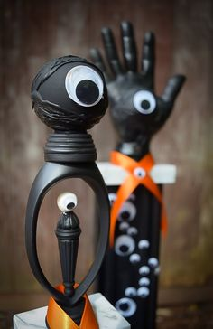 Halloween Trophies (Set of 3) - Many Eyed - Party Favors - Halloween Decor by DaydreamHunter on Etsy