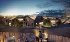 Kullegaard Takes First Place in Holbæk HavneBy Design Competition,Rooftop gardens. Image © Dimension Design, courtesy of Kullegaard Urban Architecture, Design Competitions, Outdoor Landscaping, Design Firms, Cladding, School Design, Modern Design, House Styles, Gallery