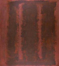 noir sur marron - (Mark Rothko (Marcus Rothkowitz))