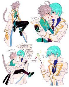Ain Elsword (Arme Thaumaturgy x Erbluhen Emotion) Cute Anime Guys, I Love Anime, All Anime, Anime Art, Anime Boys, Ain Elsword, Elsword Anime, Wolf Love, Anime People