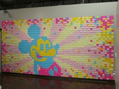 Over 2000 Post-It Notes Make Up this Mickey Mouse Wall Mural | Disney Every Day