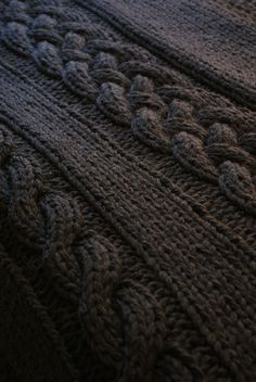 "Ravelry: Throw Blanket / Rug Super Chunky Double Cable Approximately 49"" x 64"" by Erin Black"