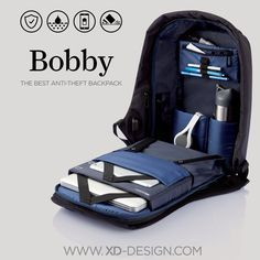 Every day pick pocket incidents occur worldwide. Never worry about this happening to you with the Bobby Anti-Theft backpack! The Safest Theft Proof bag for all your travel adventures and daily commute. Travel Backpack, Backpack Bags, Laptop Backpack, Bobby, Anti Theft Backpack, Storage Design, Designer Backpacks, Usb, Bleu Marine