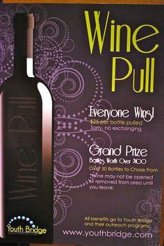 Wine Pull Nonprofit Fundraising, Fundraising Events, Fundraising Ideas, Wine Pull, Chinese Auction, Denim And Diamonds, Auction Baskets, School Auction, Raffle Baskets