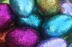 Glitter Eggs! #DIY #Easter