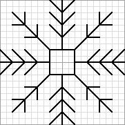 Twinchy Snowflake 3, designed by @jan issues Wilke Perry (Napa Needlepoint), Nuts About Needlepoint blogger. This snowflake pattern was used in @Lesley Howard Howard Bousbaine, tintocktap blogger's Snowflakes in the Snow 15-sided biscornu.
