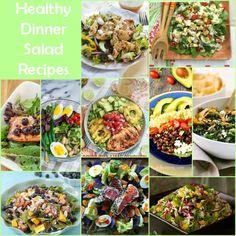 Healthy Dinner Salad Recipe Round Up www.fooddonelight.com