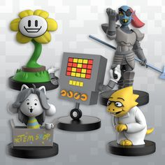 A complete set of Series 2 Little Buddies! (Or check out Series 1 Alphys Little Buddy 1 Undyne Little Buddy 1 Mettaton Little Buddy 1 Flowe. Ghost Busters, Undertale Comic, Day Wishes, Stop Motion, Kids Room, Child Room, Fun Crafts, Hand Painted, Shopping