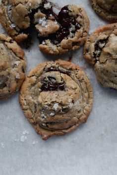 Halvah, Burnt Butter and Walnut Chocolate Chunk Cookies.