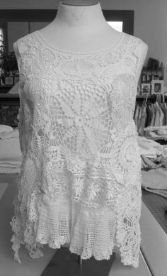 Vintage Doily Vest  - Hand Stitched - Custom made - Order yours now - Pricing varies per your requests