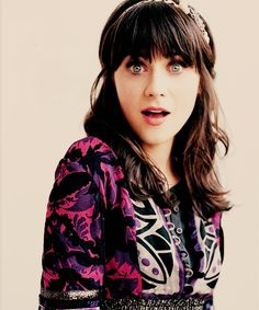 Love Zooey Deschanel for her quirky-ness and impeccable style <3