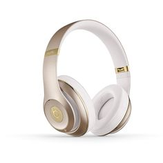 Beats Studio Wireless Over-Ear Headphone Gold ($280) ❤ liked on Polyvore featuring accessories, tech accessories e gold headphones