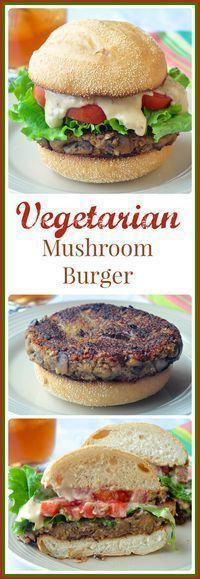This vegetarian mushroom burger recipe is certainly not short on flavour. Make them as full sized burgers or even as sliders at parties and even the meat eaters will love them!