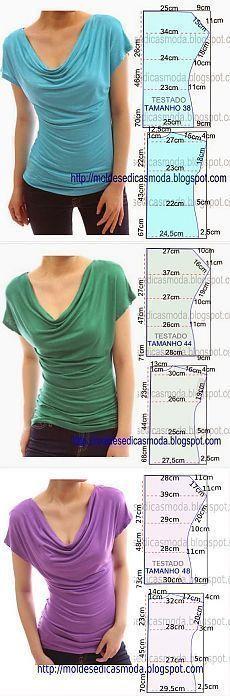 Magliette con collo drappeggiato - draped t-shirts