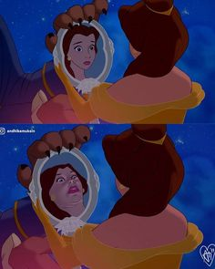 Las escenas reales de Disney.comicsworld.mx is sharing instagram posts and you can see pictures video posts and on this media post page. Humour Disney, Funny Disney Memes, Disney Jokes, Cartoon Memes, Funny Relatable Memes, Realistic Disney Princess, Funny Princess, Disney Princess Memes, Dark Disney