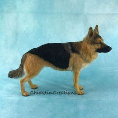 I Needle Felt German Shepherds From Wool Long Coat German Shepherd, German Shepherds, Animal Shelter, Shelter Dogs, Animal Rescue, Felt Dogs, Chihuahua Dogs, Terrier Mix, Felt Animals