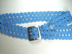 Items similar to A blue crochet belt, bruge belt, bruge lace on Etsy Crochet Belt, Crochet Rings, Crochet Stitches, Crochet Designs, Crochet Patterns, Bruges Lace, Crochet Hat For Women, Crochet Accessories, Crochet Projects