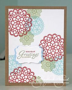 Delicate Doilies - great card, simple