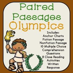 Olympics Reading Comprehension Paired Passages and Close Reading Activities: Covers the Summer Olympics and Winter Olympics.