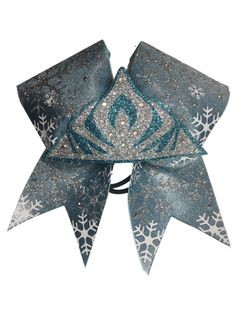 Frozen Inspired Queen Elsa Bow! Great for all our Frozen Fans! Visit our site to view all our stunning bows!