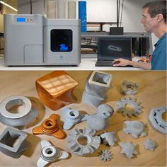 I soooo want one of these! A 3-D printer! Imagine all that you could do...