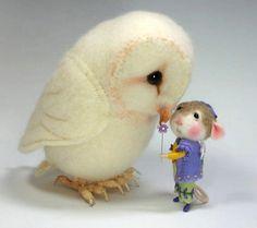 Habillé de souris/lapin classe aiguille feutrage classe pour créer les deux le lapin et la souris par Barby Anderson (Kit Available et vendu séparément)