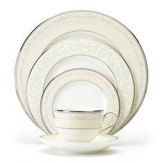 Noritake Manassa Place Setting by Noritake Clear Coffee Mugs, Chocolate Cups, Noritake, Fine China, Simple House, Place Settings, Linens, Porcelain, Plates