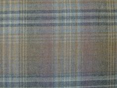 Designer Curtain Fabric Wool Tartan Plaid Check Mauve Grey Upholstery by mt | eBay